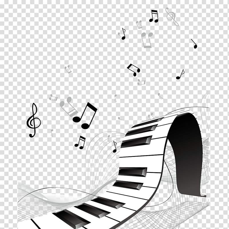 Notes art musical instrument. Piano clipart flute