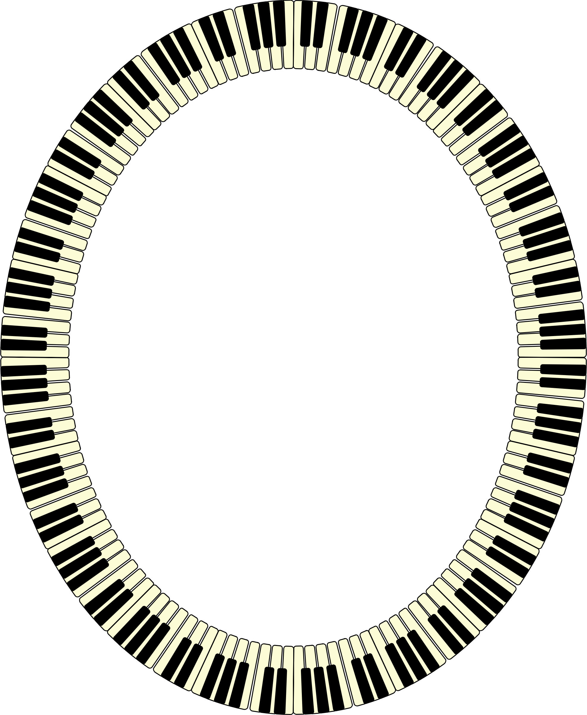 Piano clipart frame. Keys ellipse big image