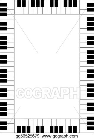 Clipart piano frame. Stock illustration drawing gg