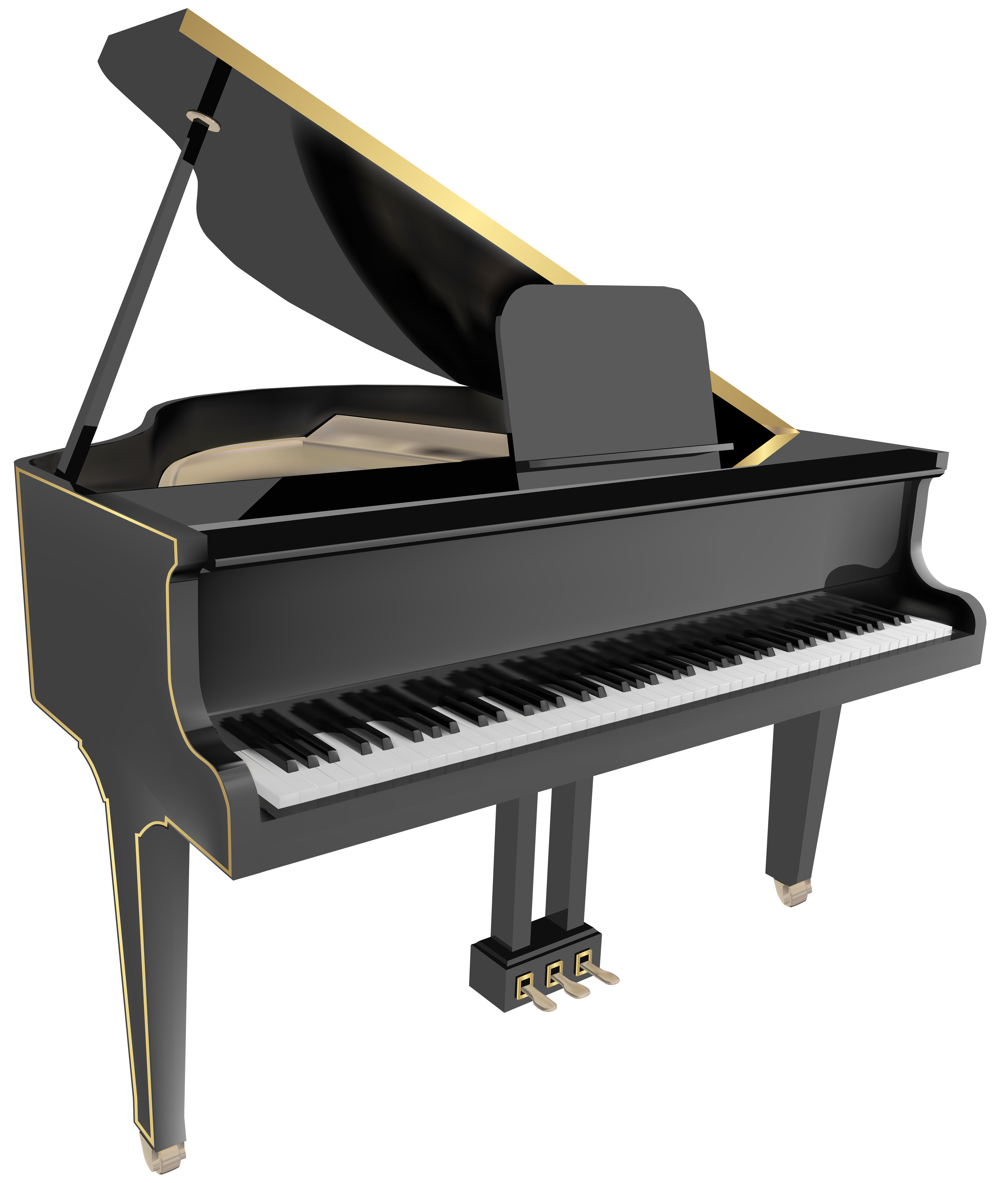Piano clipart banner. Grand png clip art