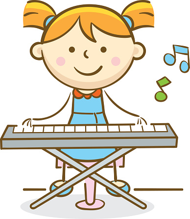 Free download clip art. Piano clipart happy