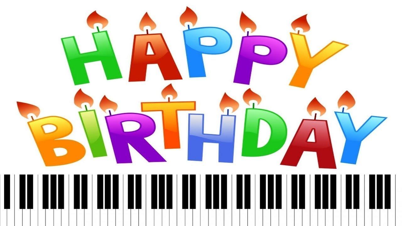 . Clipart piano happy birthday piano