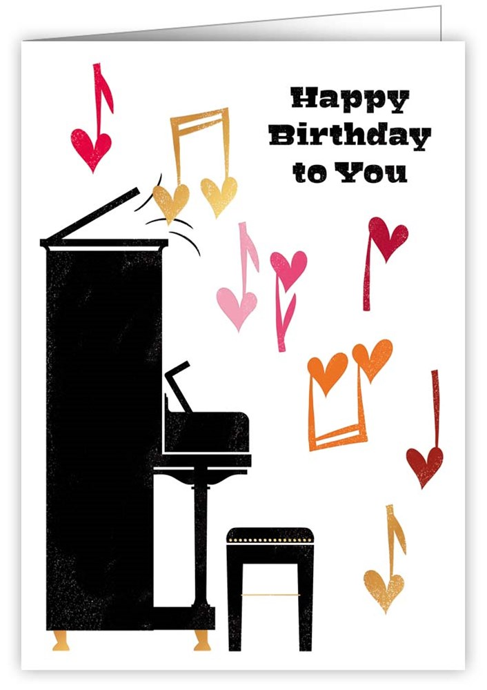 Clipart piano happy birthday piano. Cards print lover quire