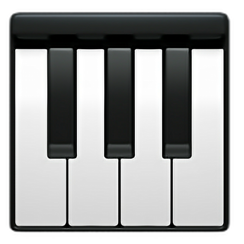 Piano clipart chord. Emoji