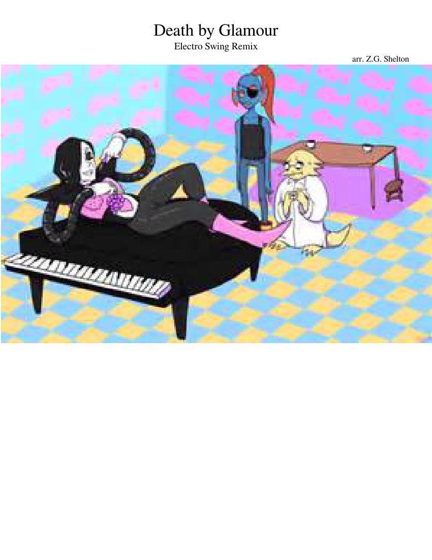 Death by glamour electro. Piano clipart octave