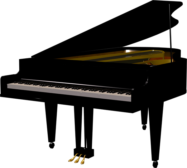 Clipart piano high quality. Black transparent gallery yopriceville