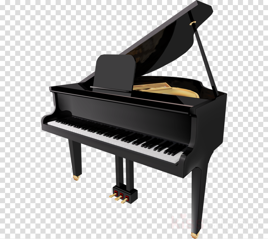 Cartoon keyboard . Piano clipart illustration