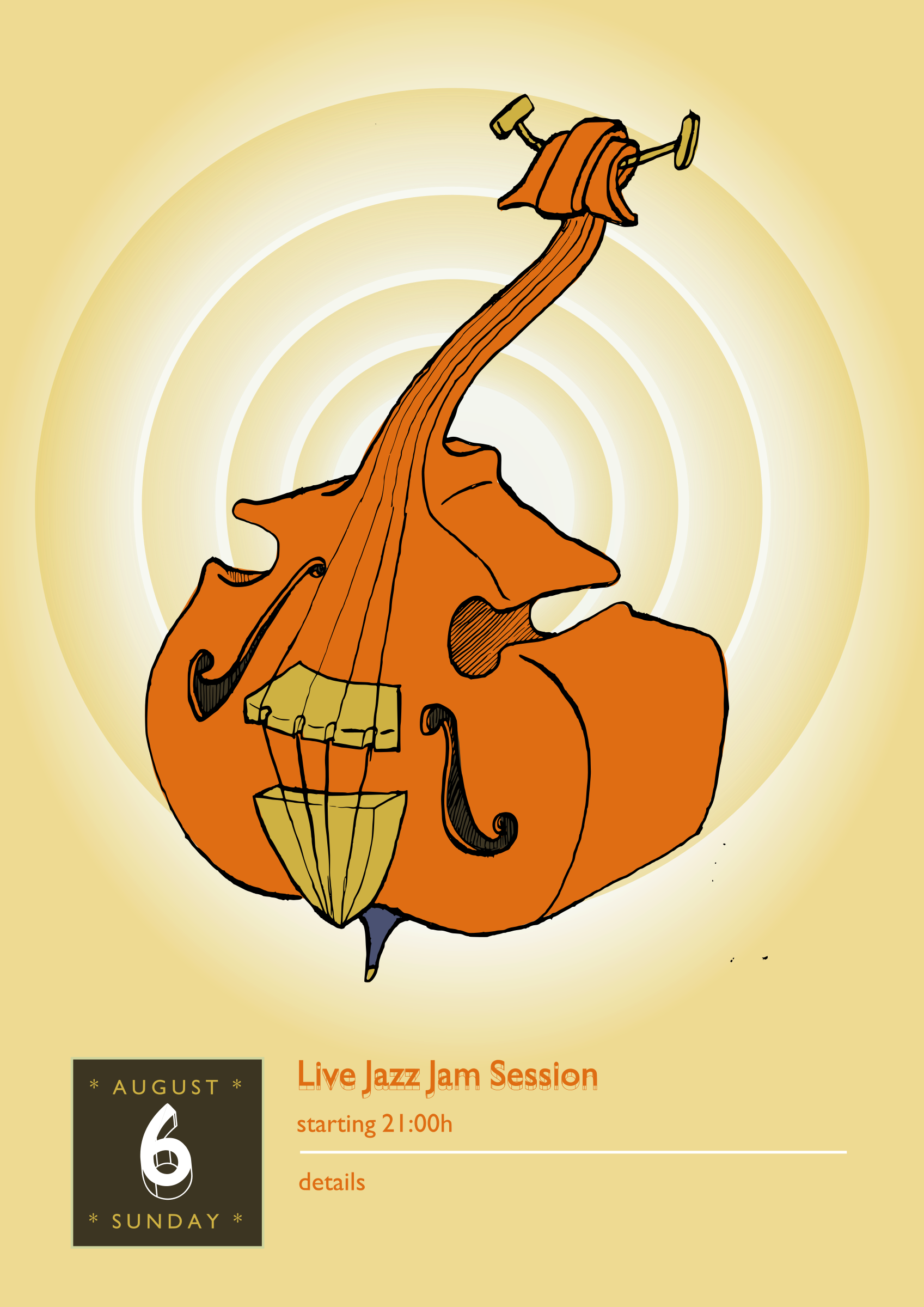 Piano clipart jam session. Jazz double bass big