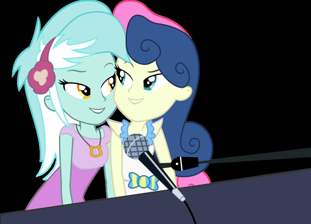 Piano clipart piano duet. Lyra and bonbon by