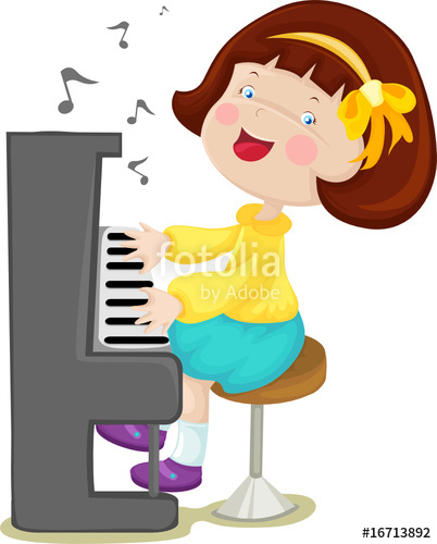 Piano clipart little girl. Playing clip art library
