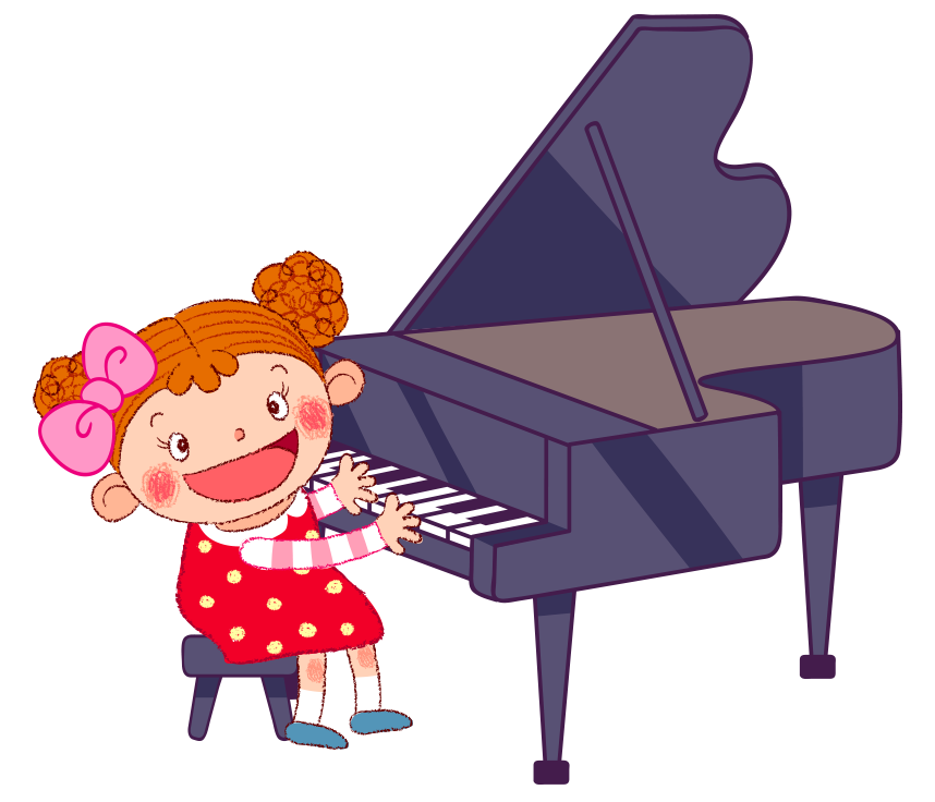 Gaming clipart cartoon kid. Piano baby games illustration