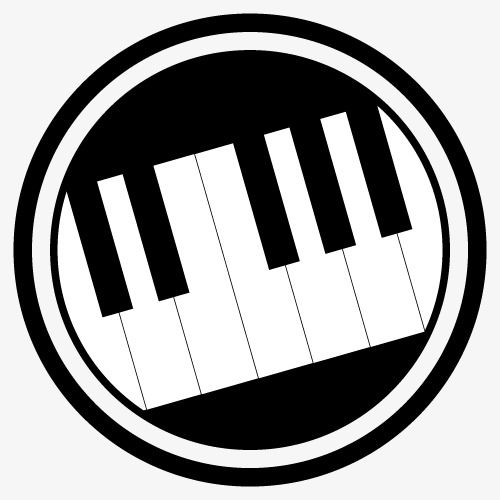 Piano clipart logo. Black and white keyboard