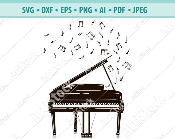 Keyboard play melody musician. Piano clipart melodies