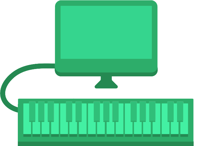 Plug in a and. Clipart piano midi keyboard