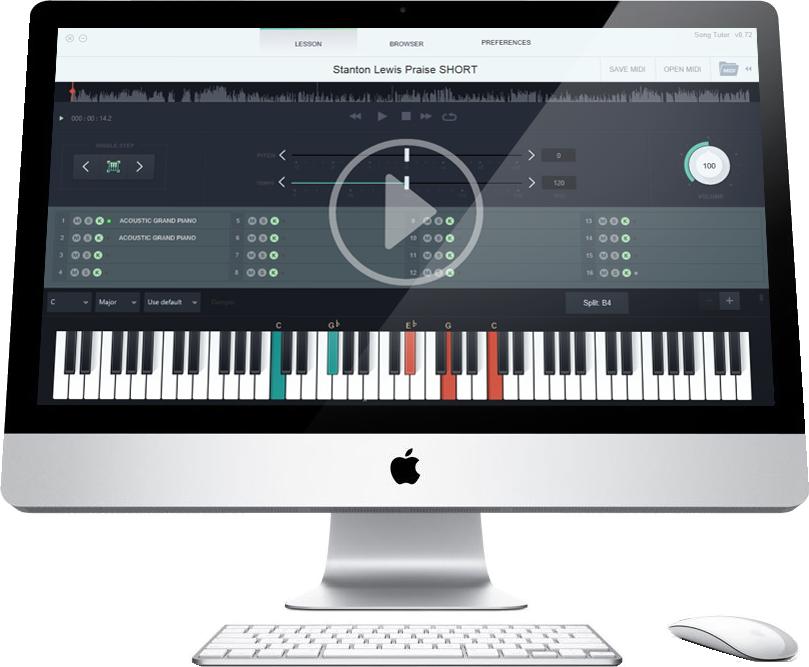 Clipart piano midi keyboard. Clickable image png the
