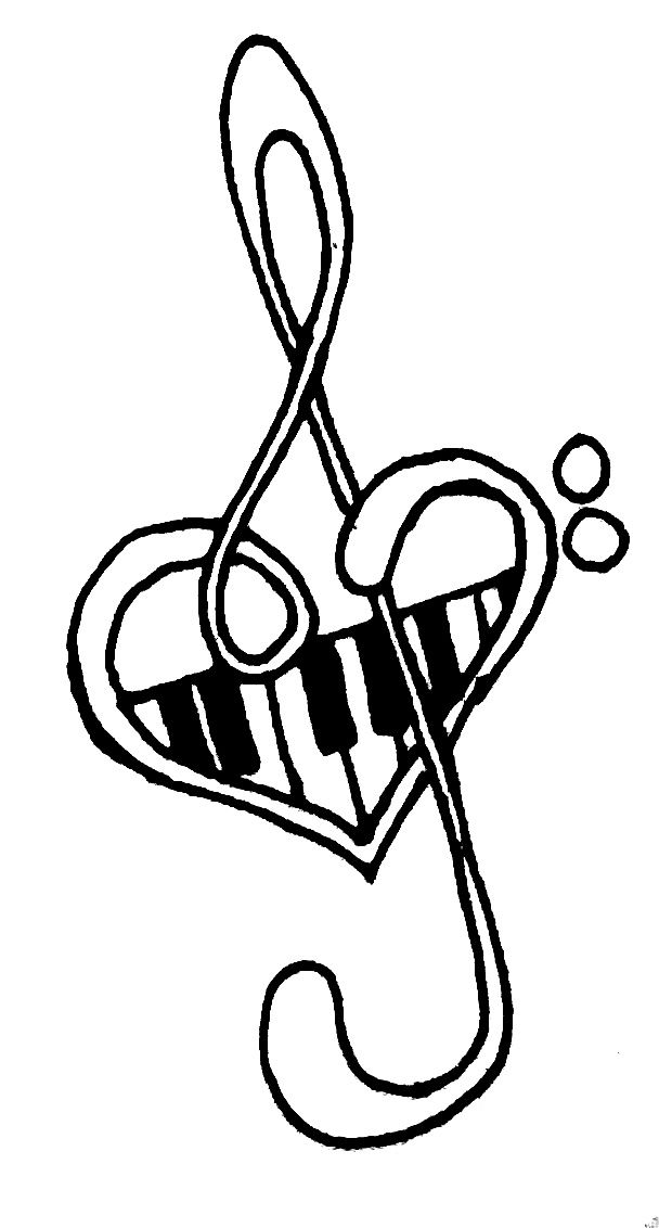 Clipart piano music line. Notes tattoos library clip