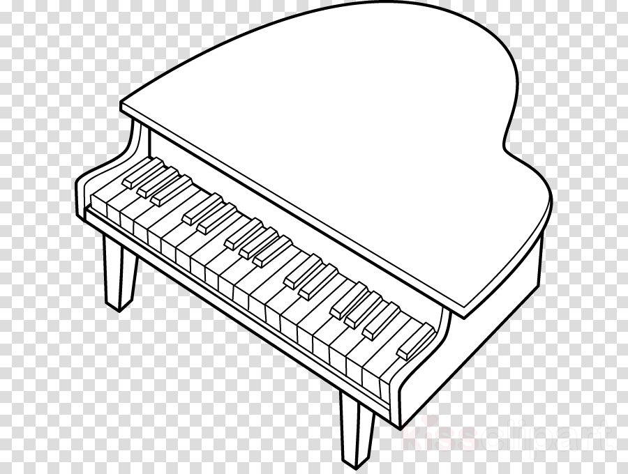 Cartoon furniture product . Clipart piano music line