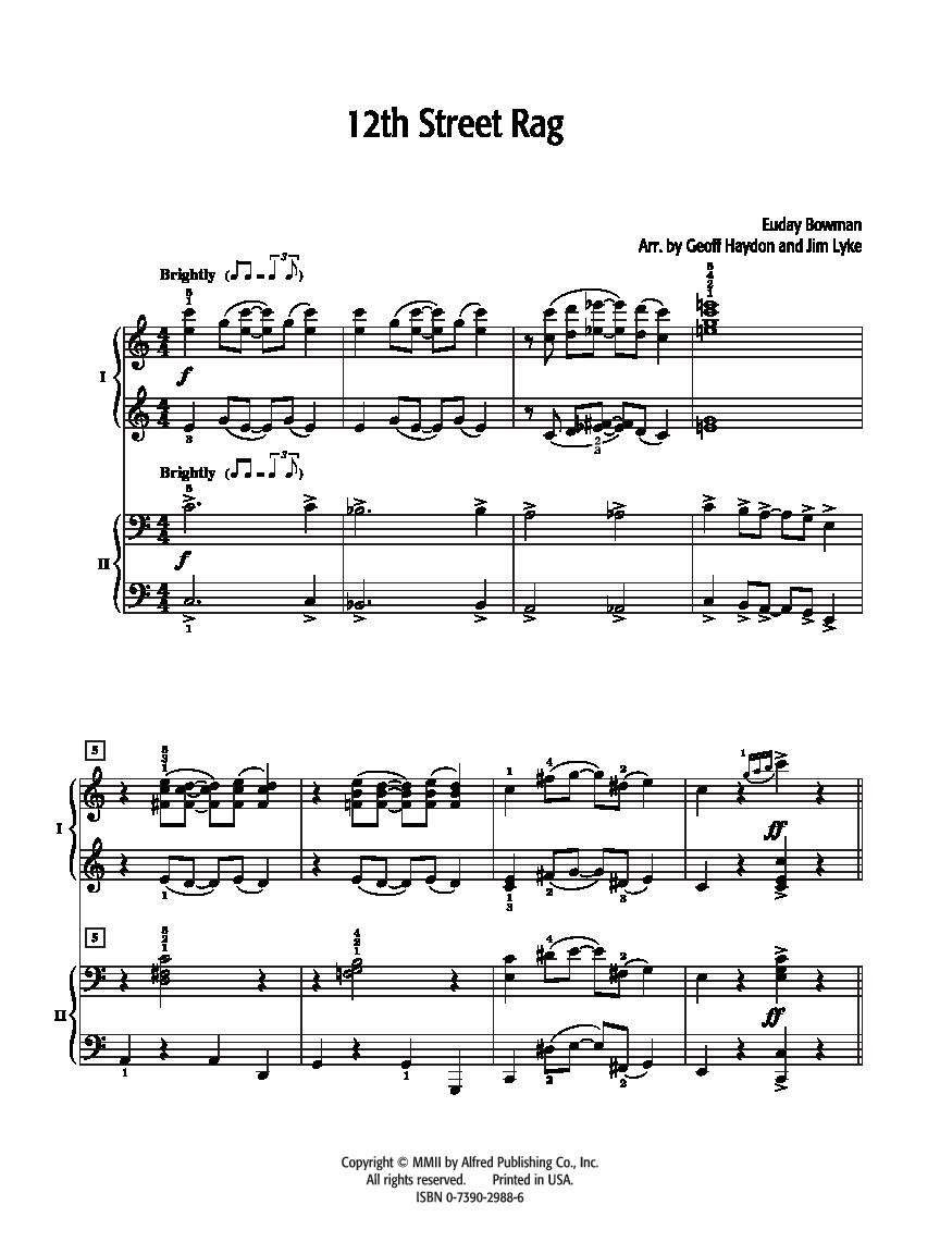 Piano clipart music manuscript.  th street rag