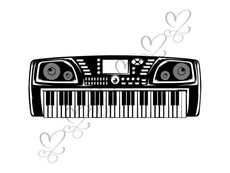 Clipart piano music radio. Keyboard recording studio computer