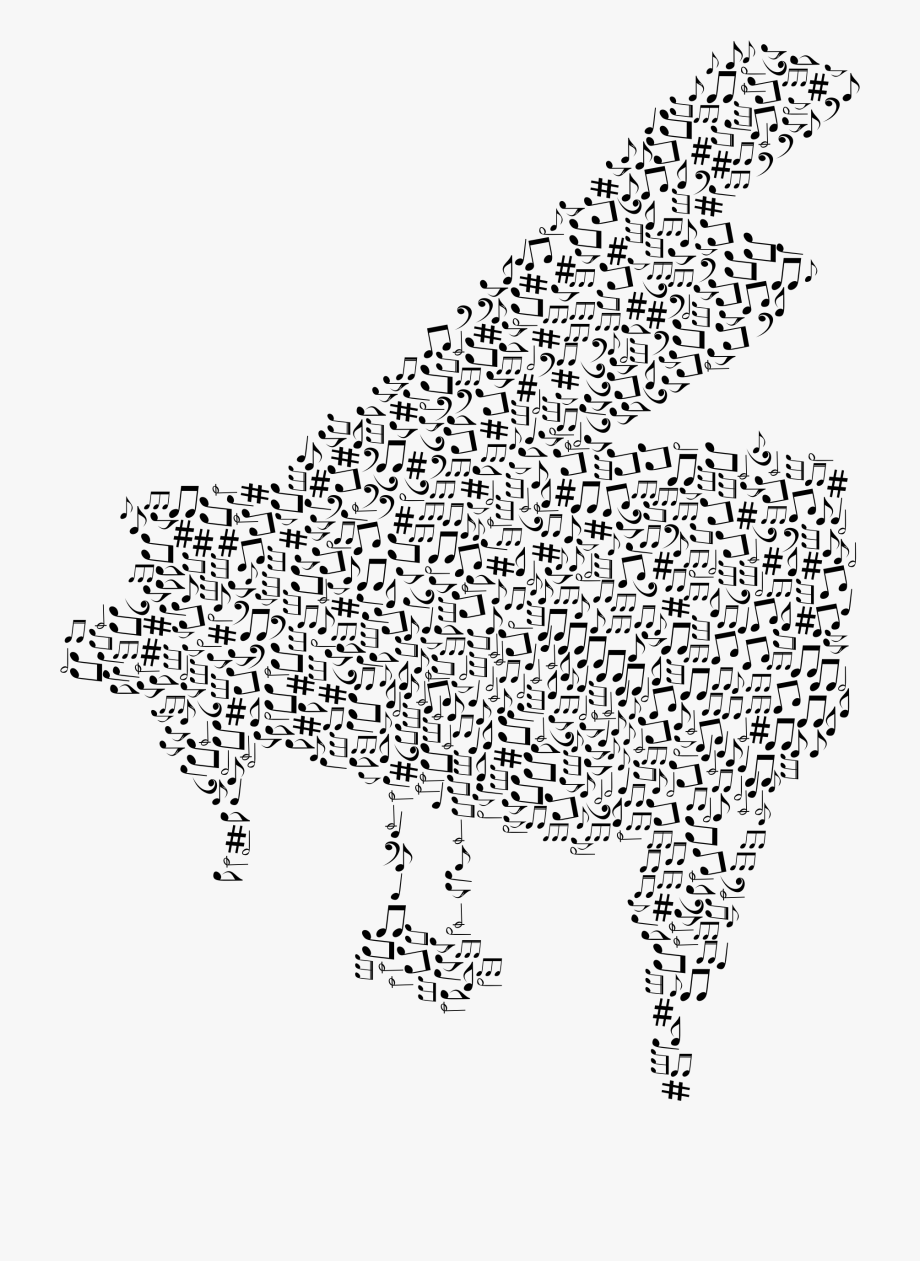 Music notes art png. Piano clipart musical notation