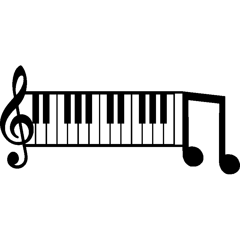 Piano clipart musique. Sticker touches de stickers