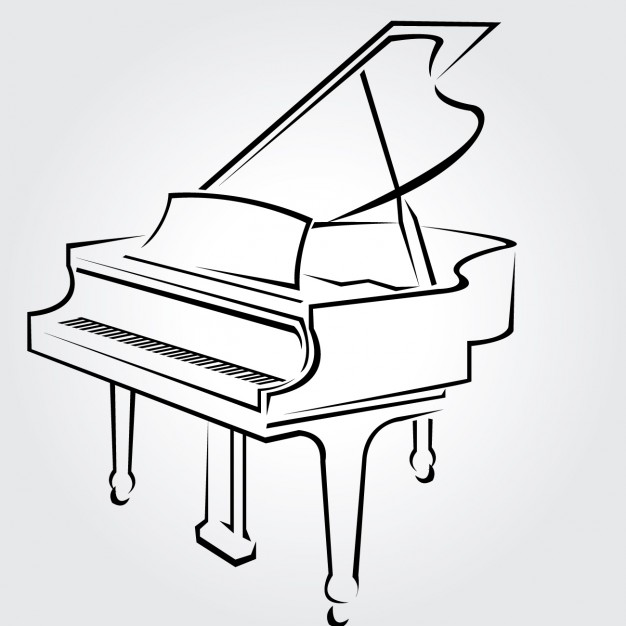 Cliparts zone . Clipart piano outline