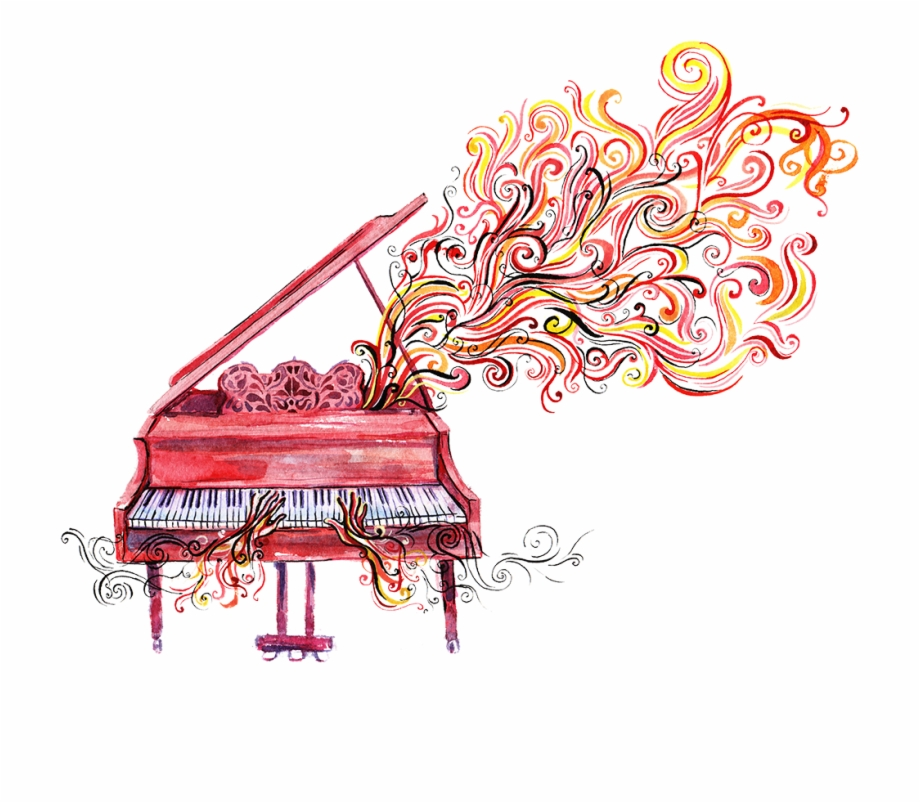 Clipart piano paino. Color png free images