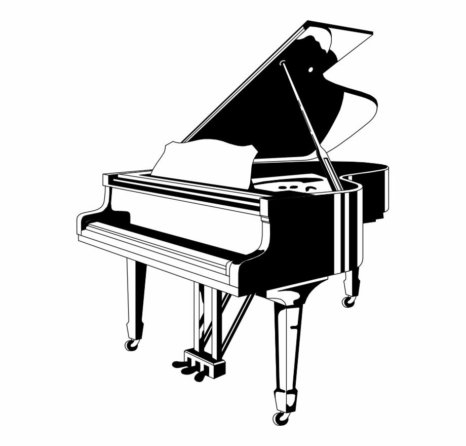 Black and white free. Clipart piano paino