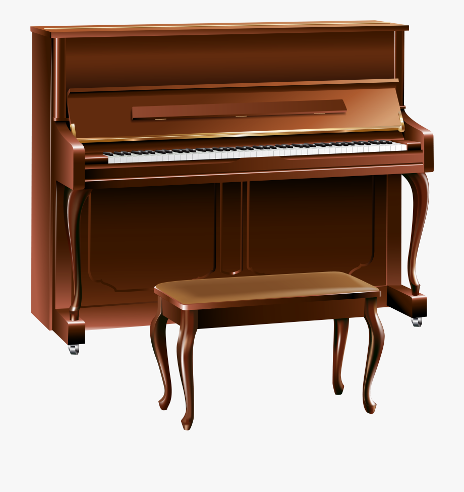 Brown png transparent free. Piano clipart cartoon