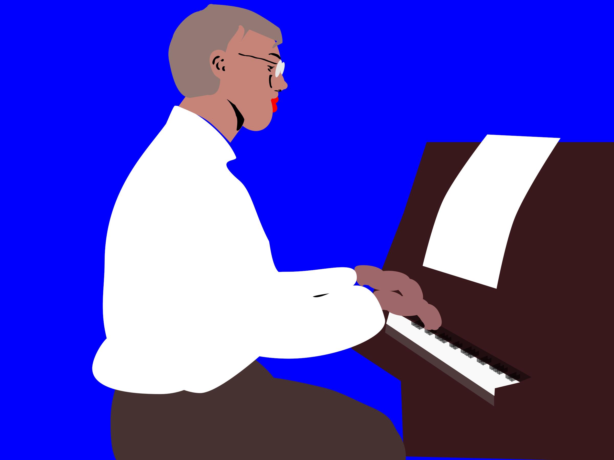 Clipartmonk free clip art. Piano clipart pianist