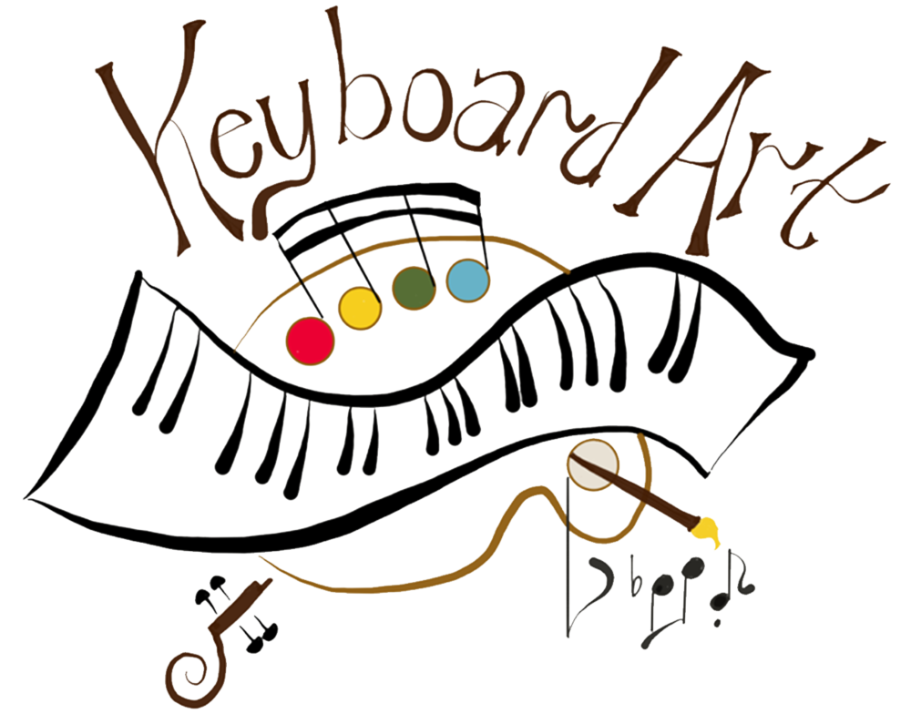 Keyboard art school of. Piano clipart choir note