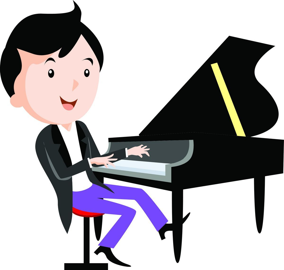 Clipart piano piano performance. Children playing musical instruments