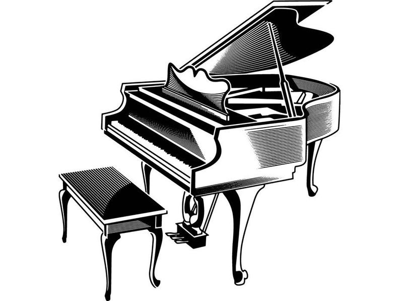 Classical music playing concert. Piano clipart piano performance