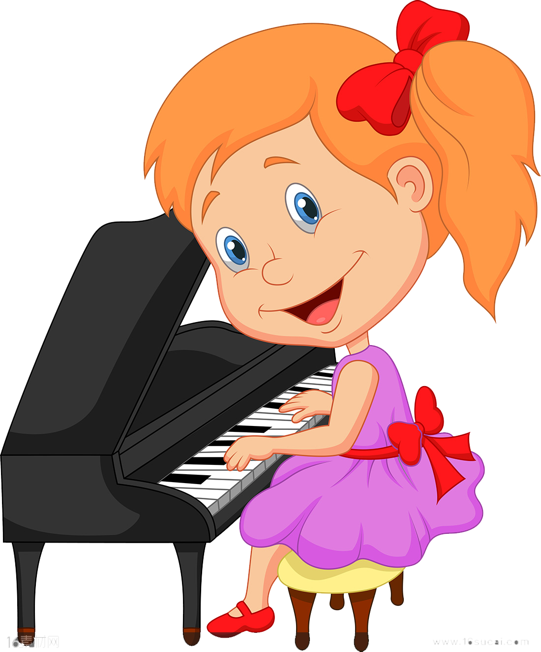 Clip art girls playing. Piano clipart piano player