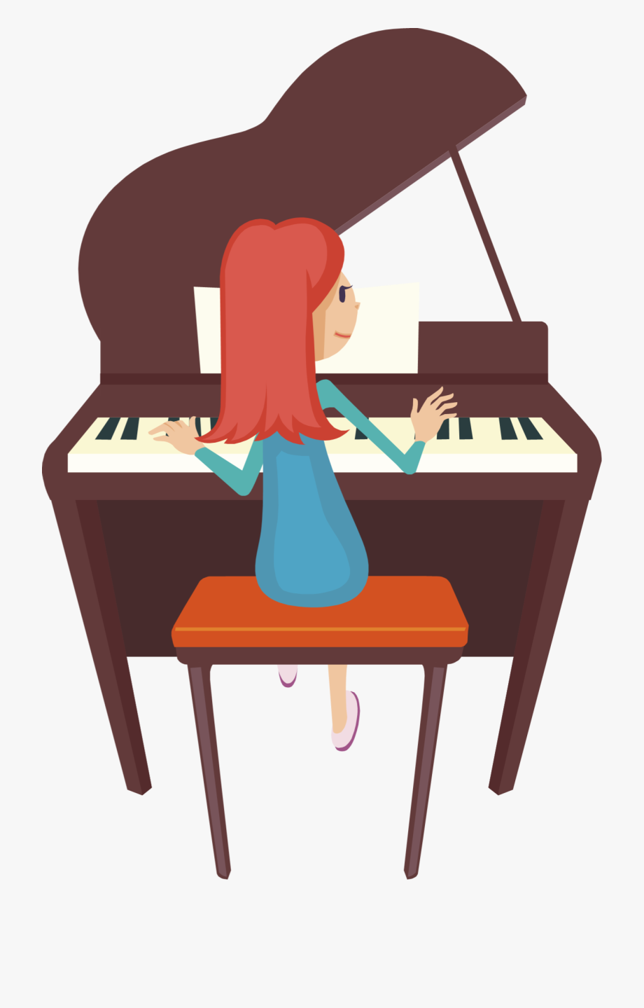 Download playing cliparts cartoons. Piano clipart piano player
