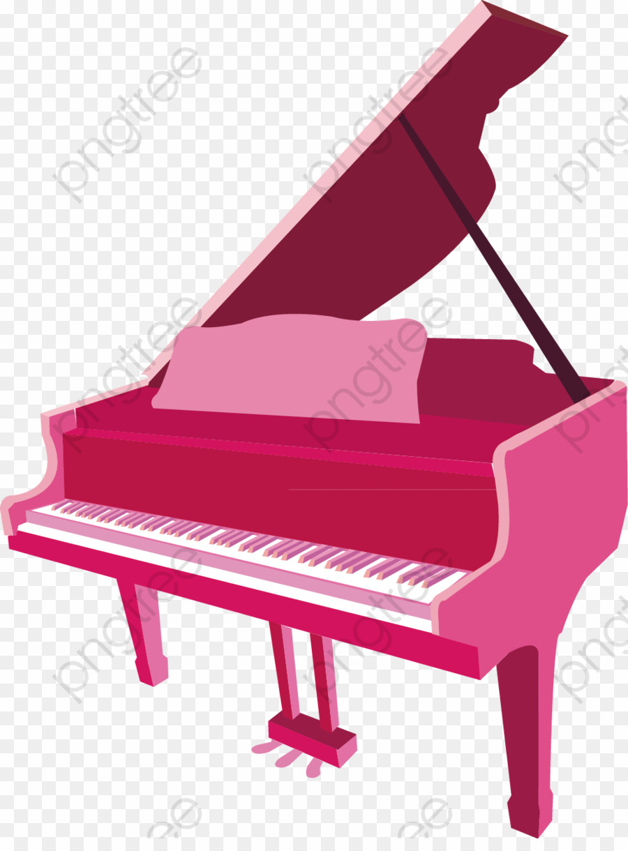 Transparent background png musical. Piano clipart pink piano