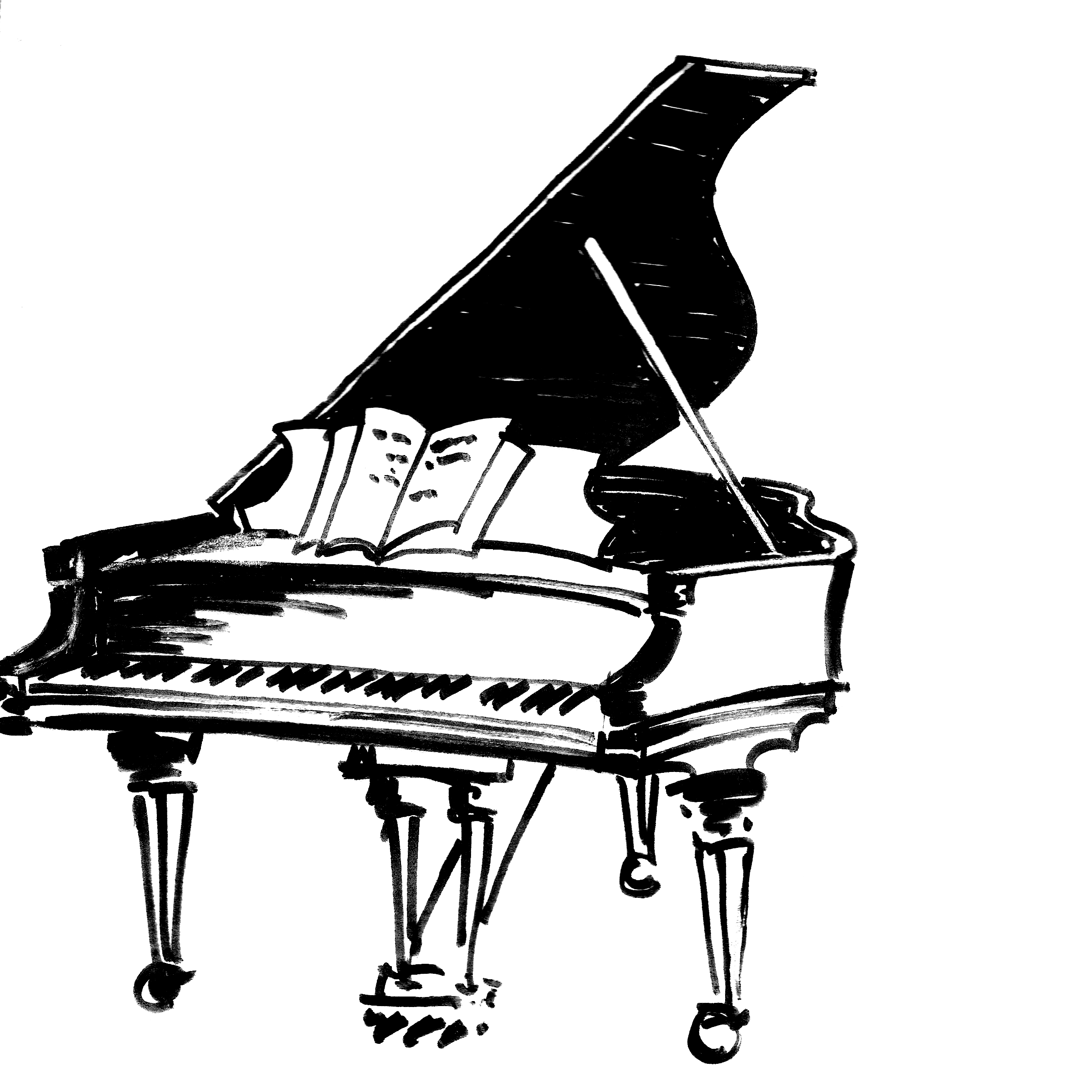 White clipart piano. Keyboard drawing at getdrawings