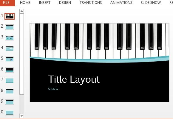 Clipart piano powerpoint background. Musical curves template
