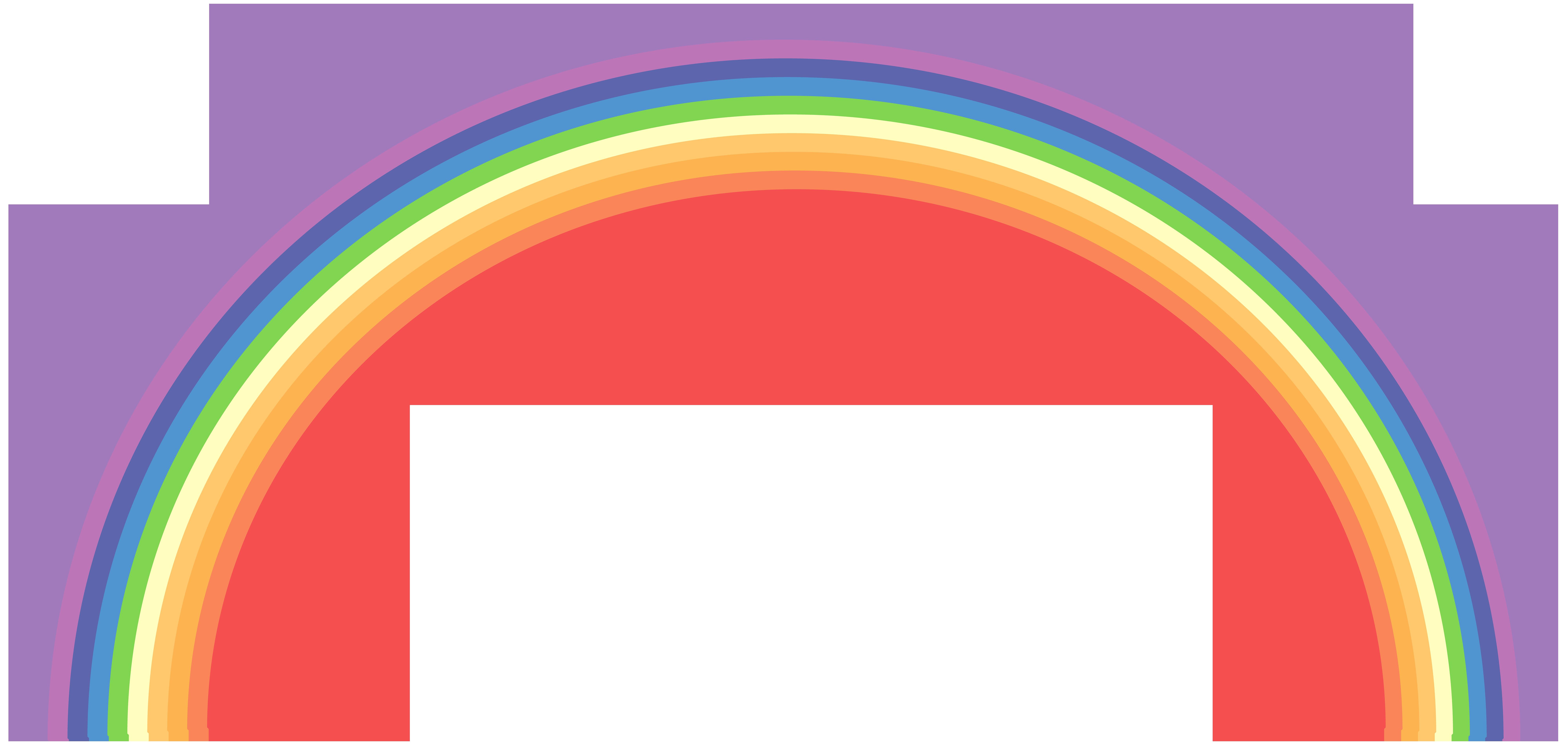 Clipart rainbow transparent background. Png clip art image