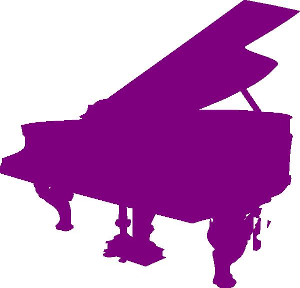 Purple silhouette clip art. Piano clipart free vector
