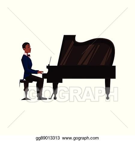 Clip art vector young. Clipart piano side view