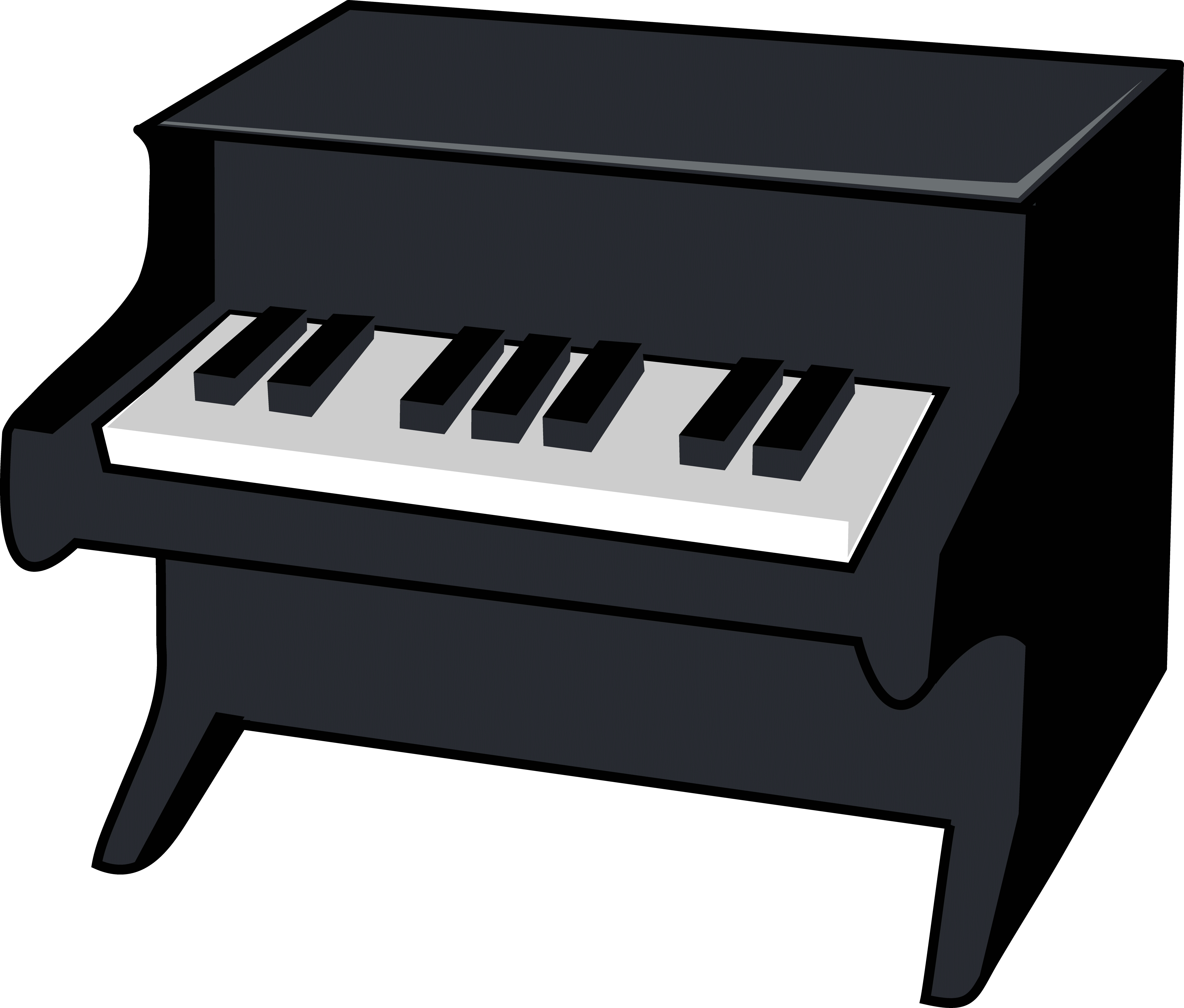 Cartoon instruments cliparts free. Piano clipart clear background