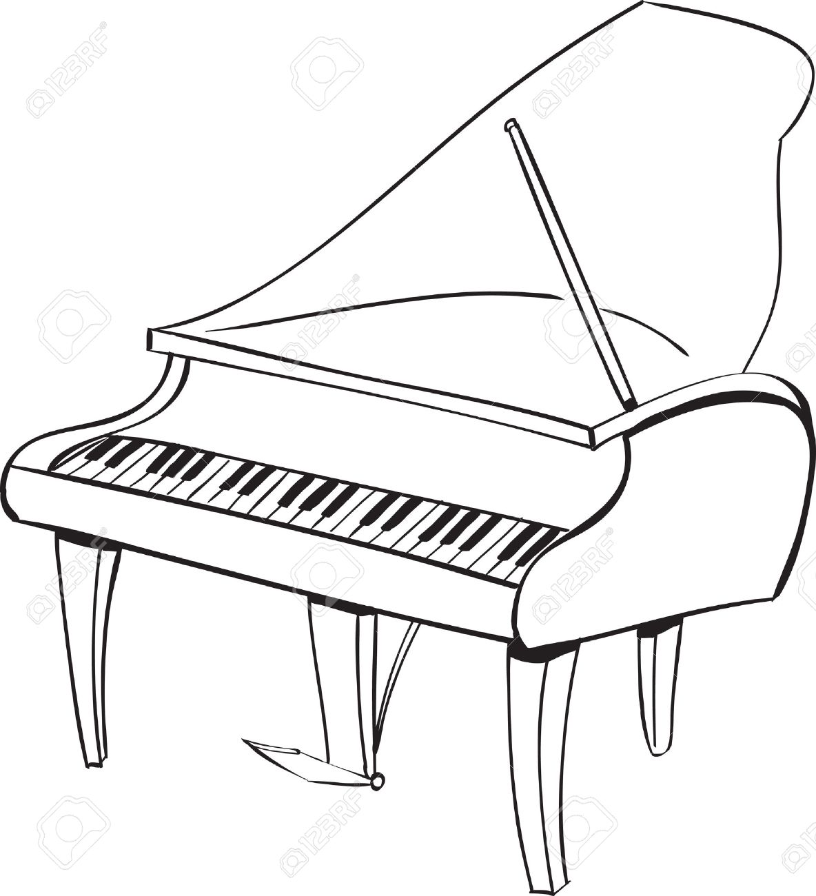 Sketch at paintingvalley com. Piano clipart sketches