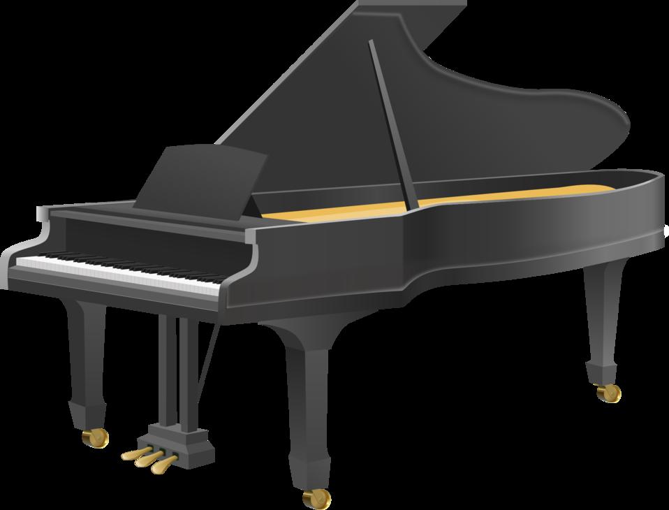Piano clipart digital piano. Public domain clip art
