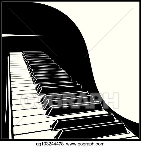 Vector illustration keyboard eps. Piano clipart stylized