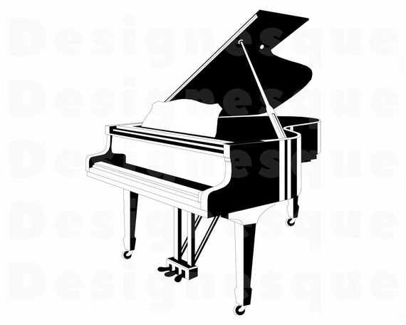 Grand files for cricut. Piano clipart svg