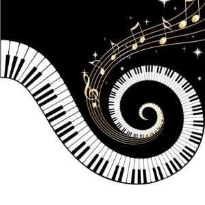Keyboard and cliparting com. Piano clipart curved