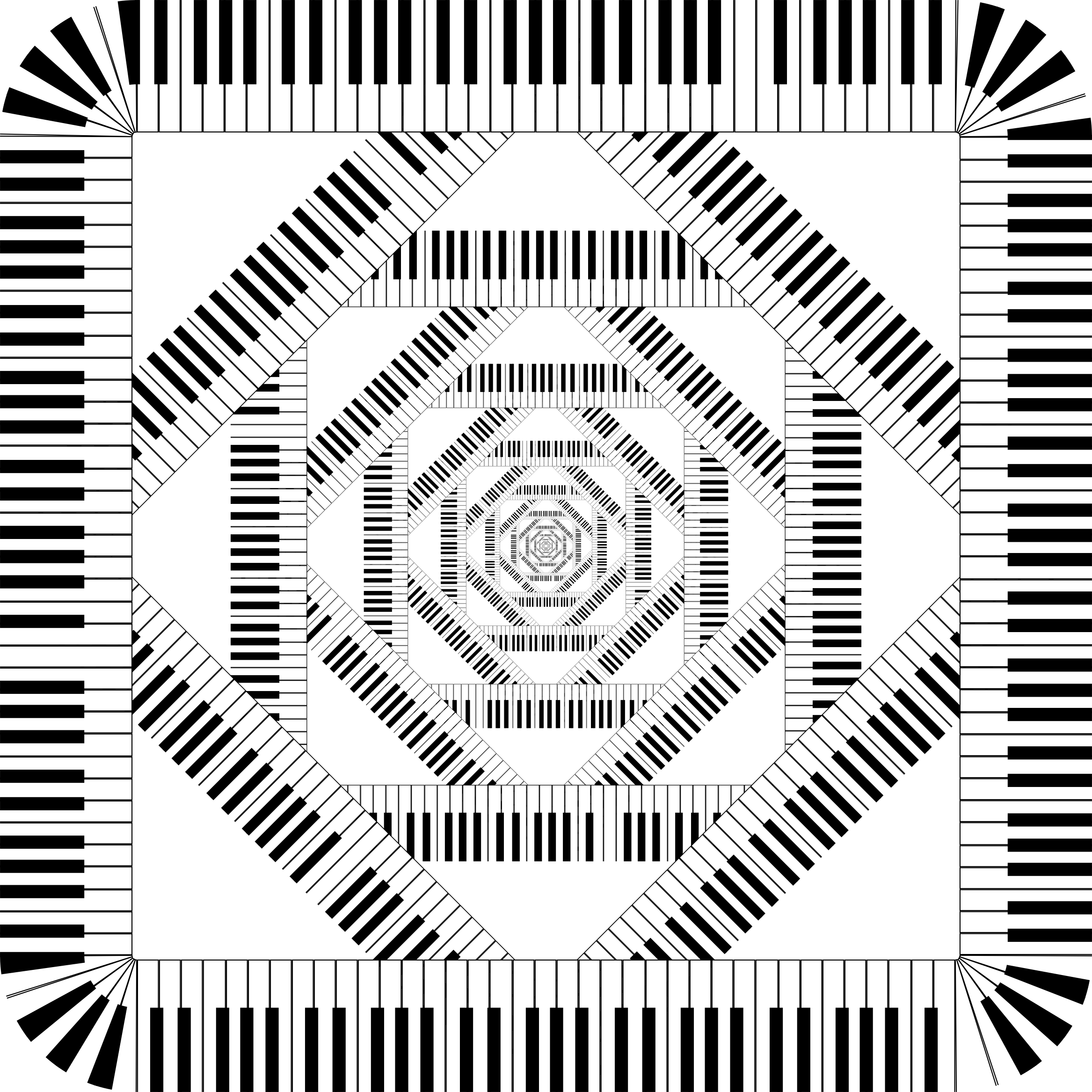 Clipart piano swirl. Keys rounded square vortex