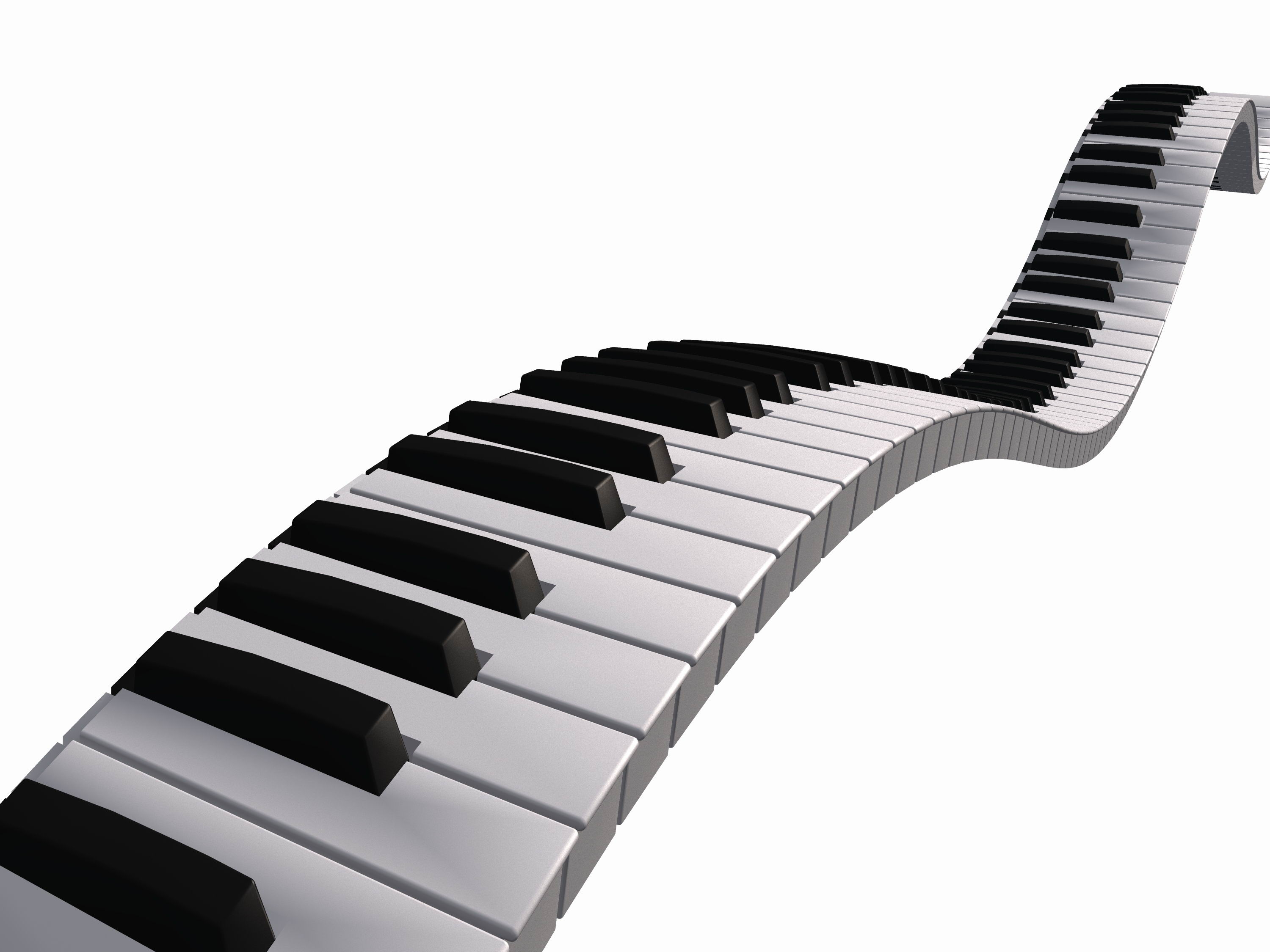 Notes panda free images. Piano clipart wavy