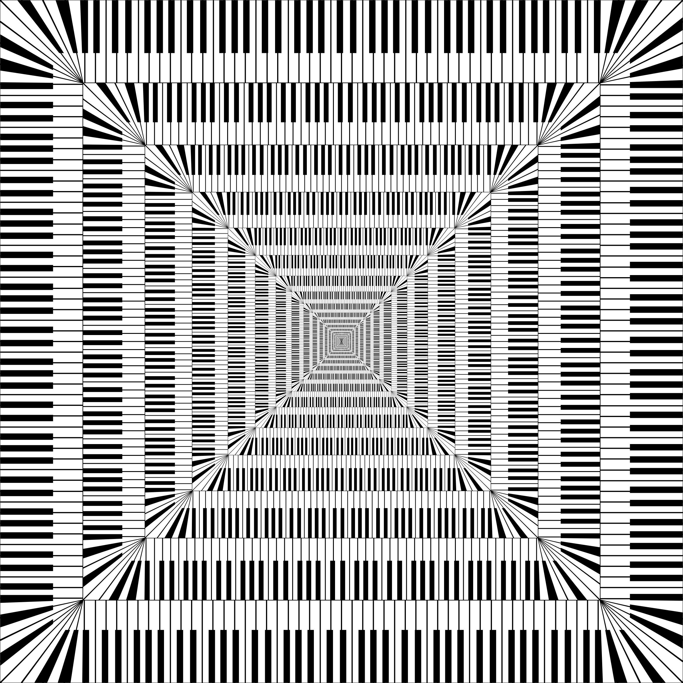 Keys square vortex big. Clipart piano swirl